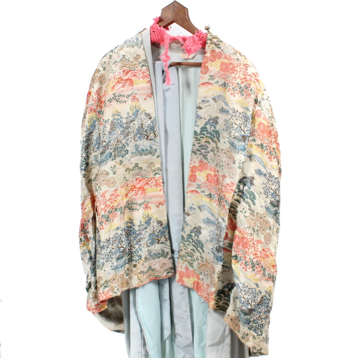 Vintage Japanese Kimono Style Robe with House Jacket