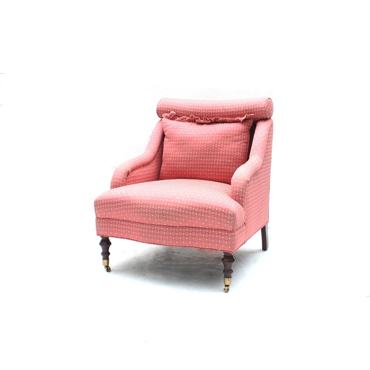 Pink Upholstered Armchair