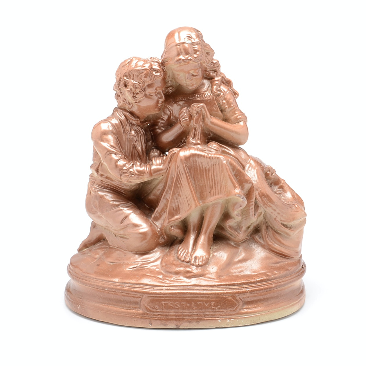 Chalk-ware John Rogers Reproduction Figurine