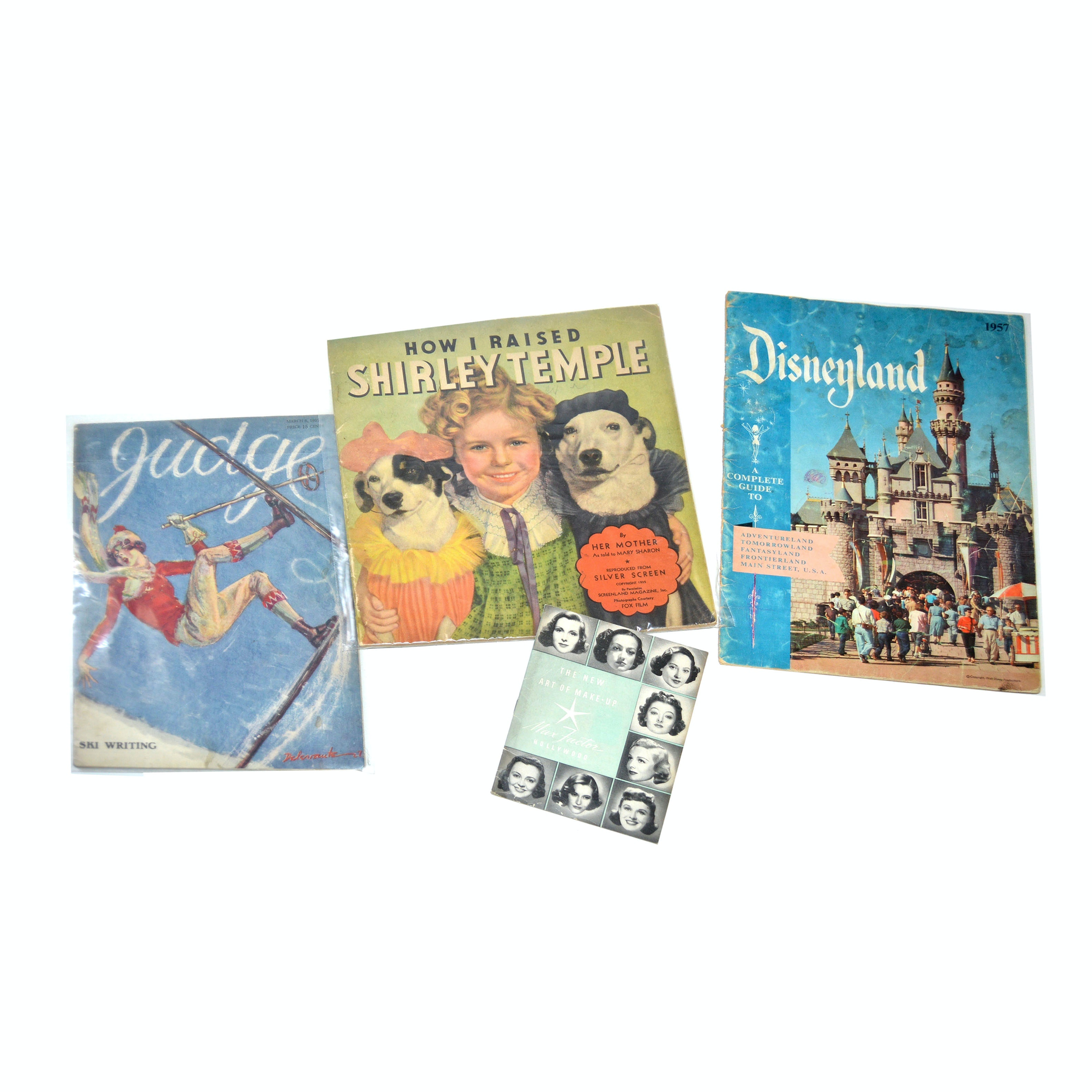 1920s-1950s Disney Program, Shirley Temple Book and Advertisements