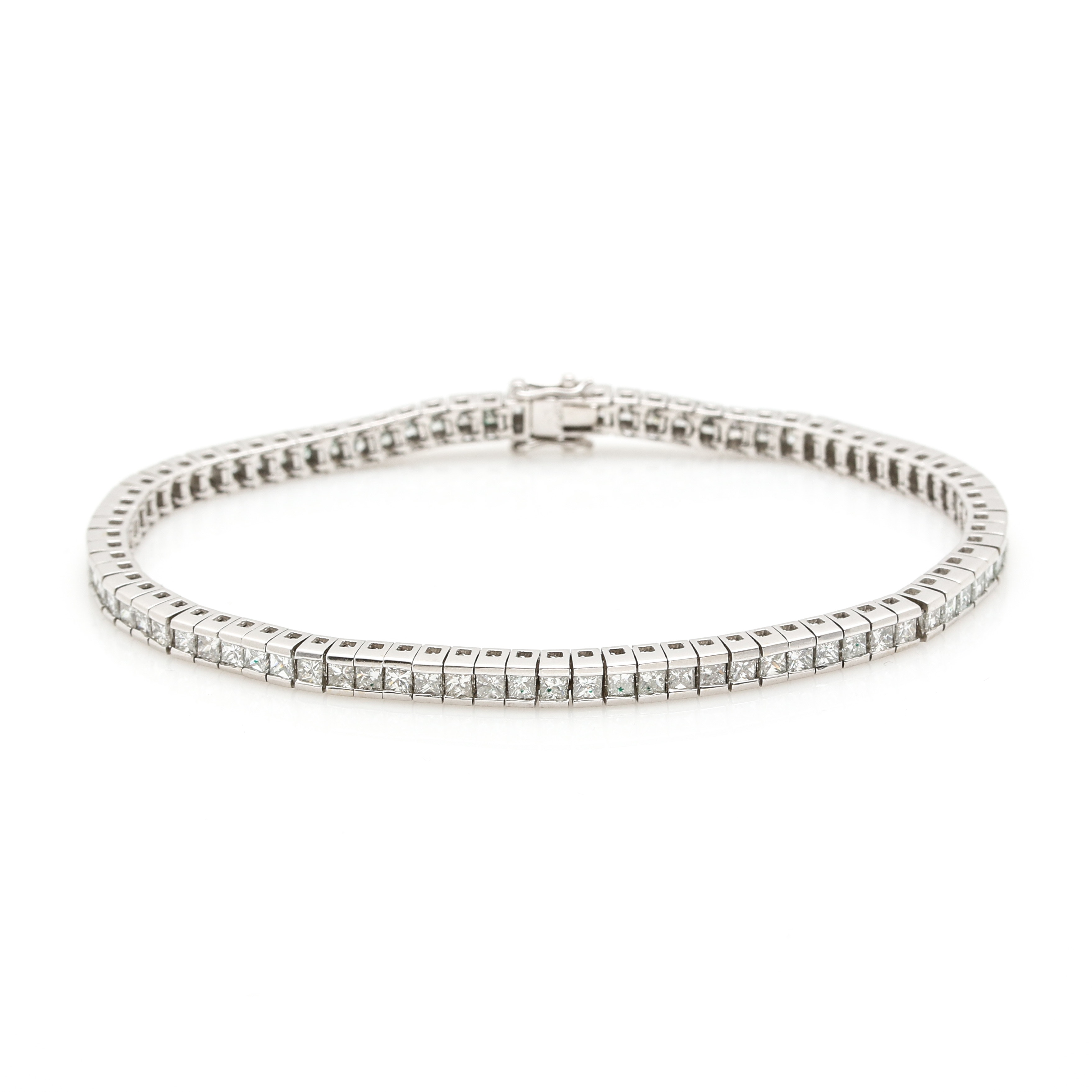 18K White Gold 4.15 CTW Diamond Bracelet