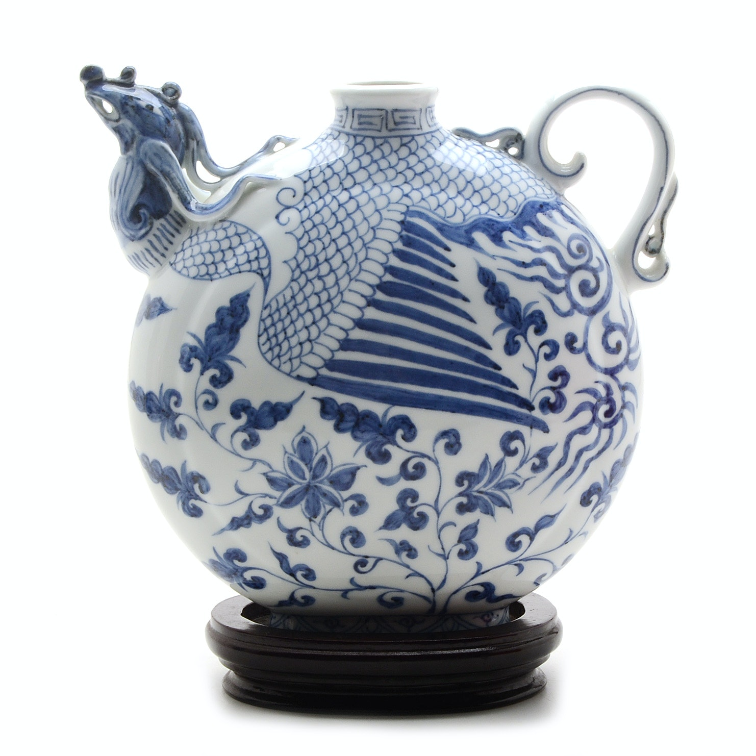 Reproduction Chinese Phoenix Moon Flask
