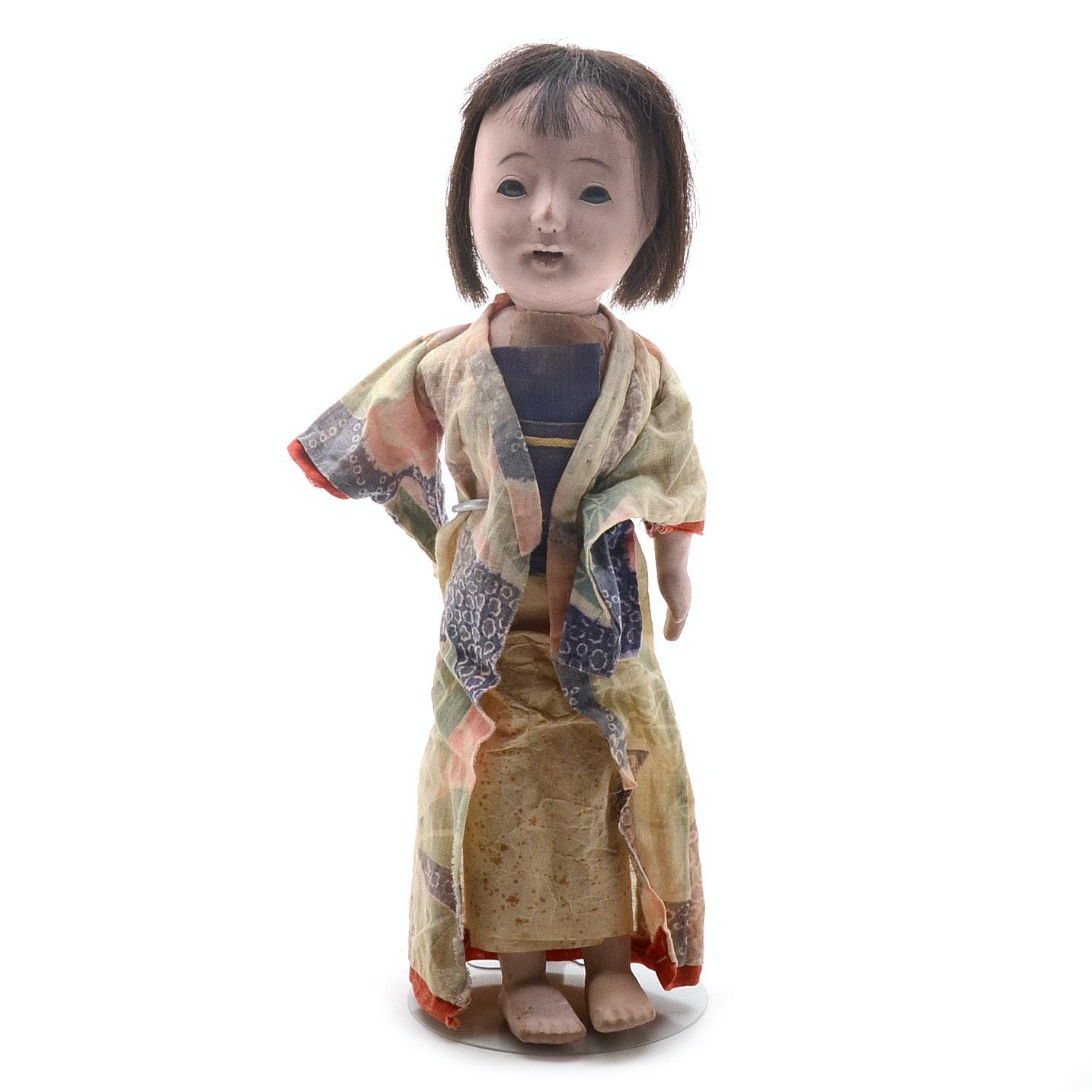 Vintage Japanese Gofun Ichimatsu Doll