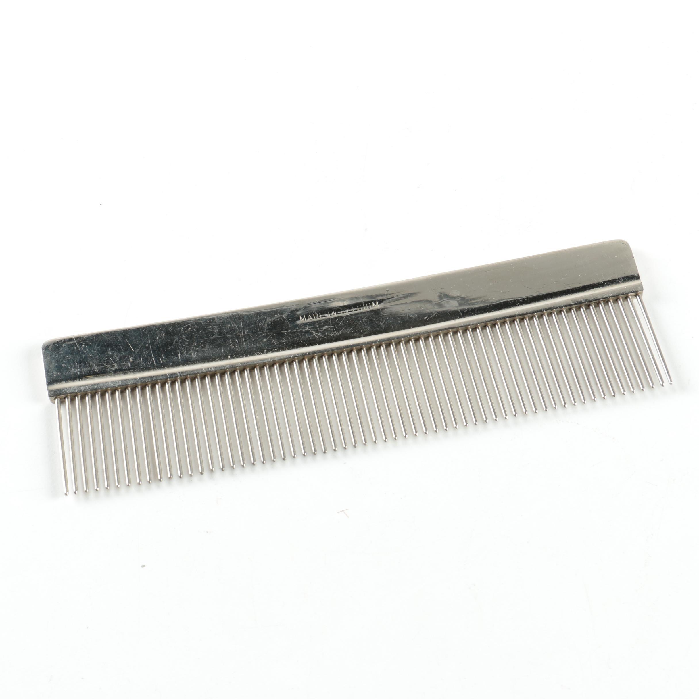 Belgium Made Metal Grooming Comb