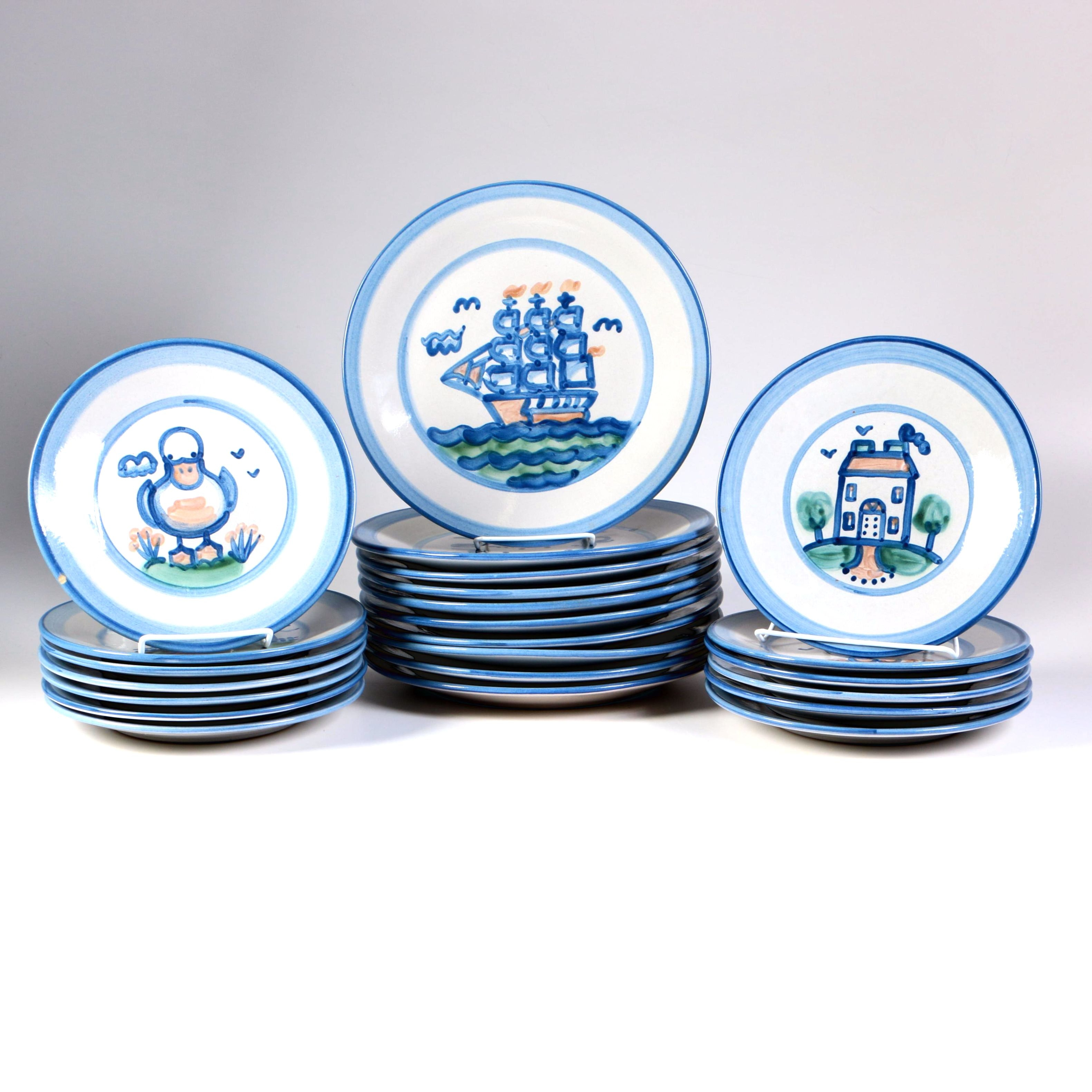 M. Hadley Stoneware Plate Collection