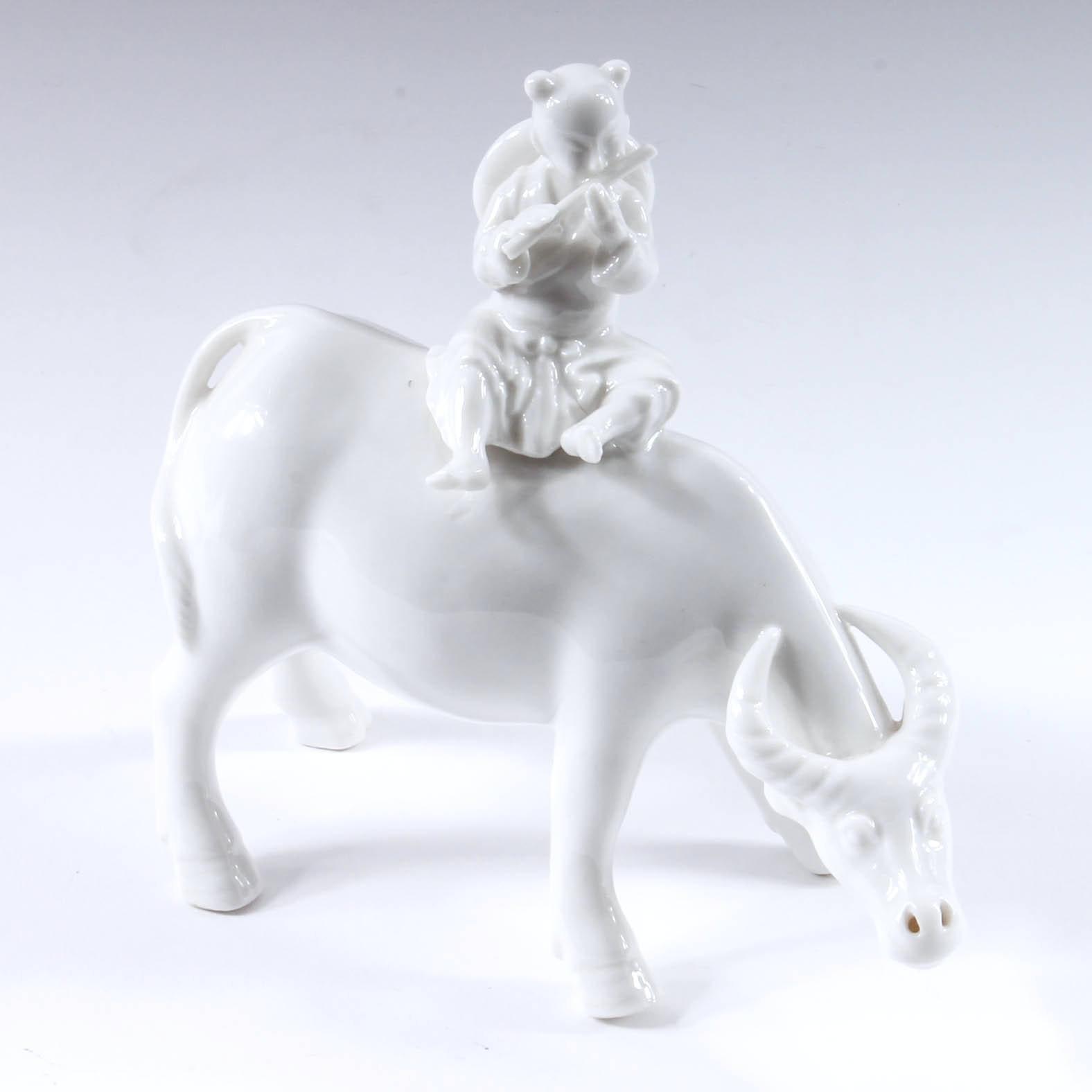Porcelain Water Buffalo Porcelain Figurine