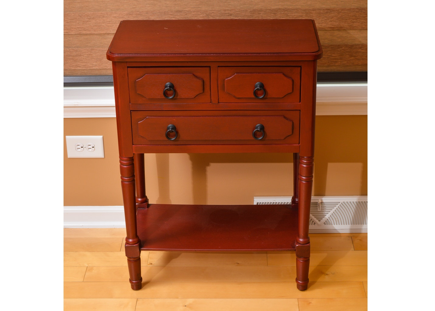 Federal Style Burgundy Painted Side Table