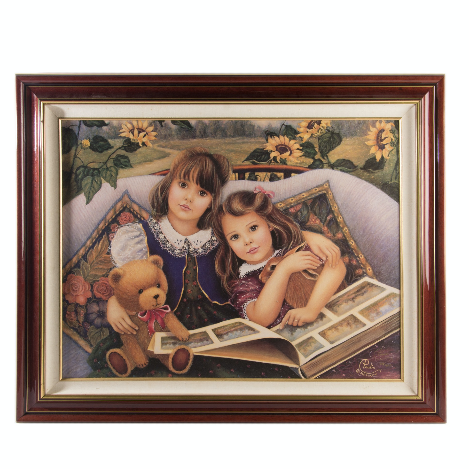 "Chantal Poulin Limited Edition Offset Lithograph ""Friends And Fairytales"""