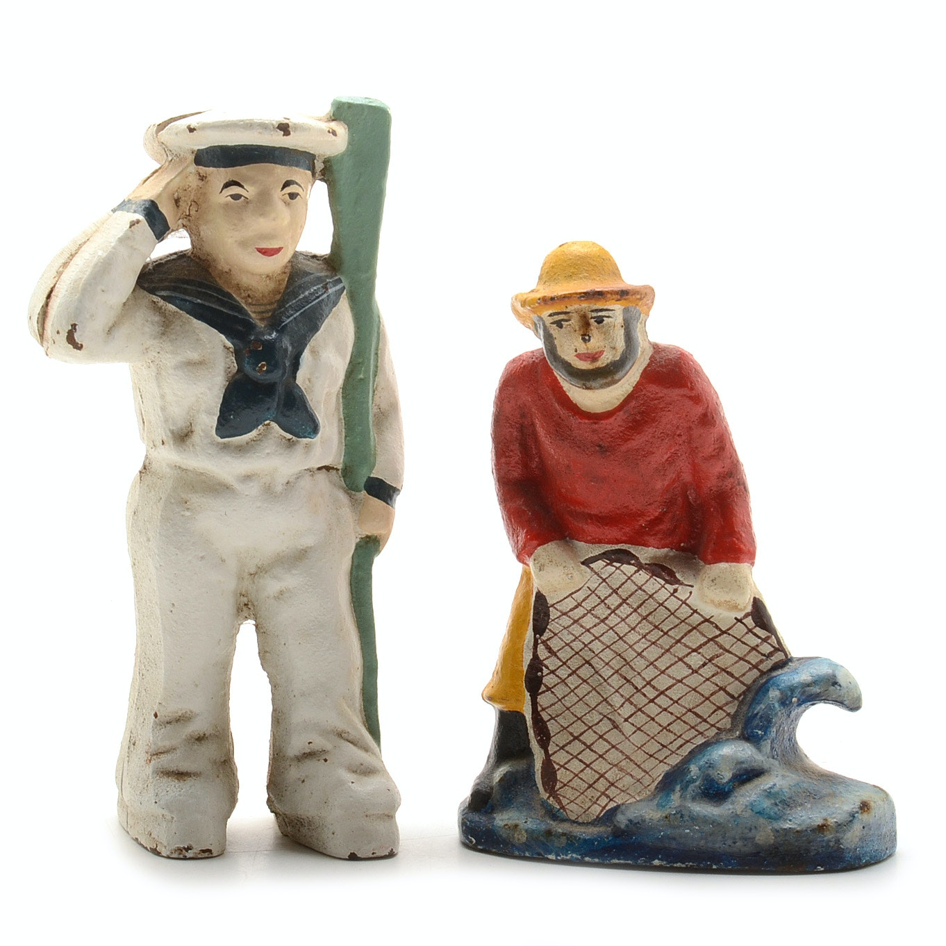 Two Cast Iron Figurines