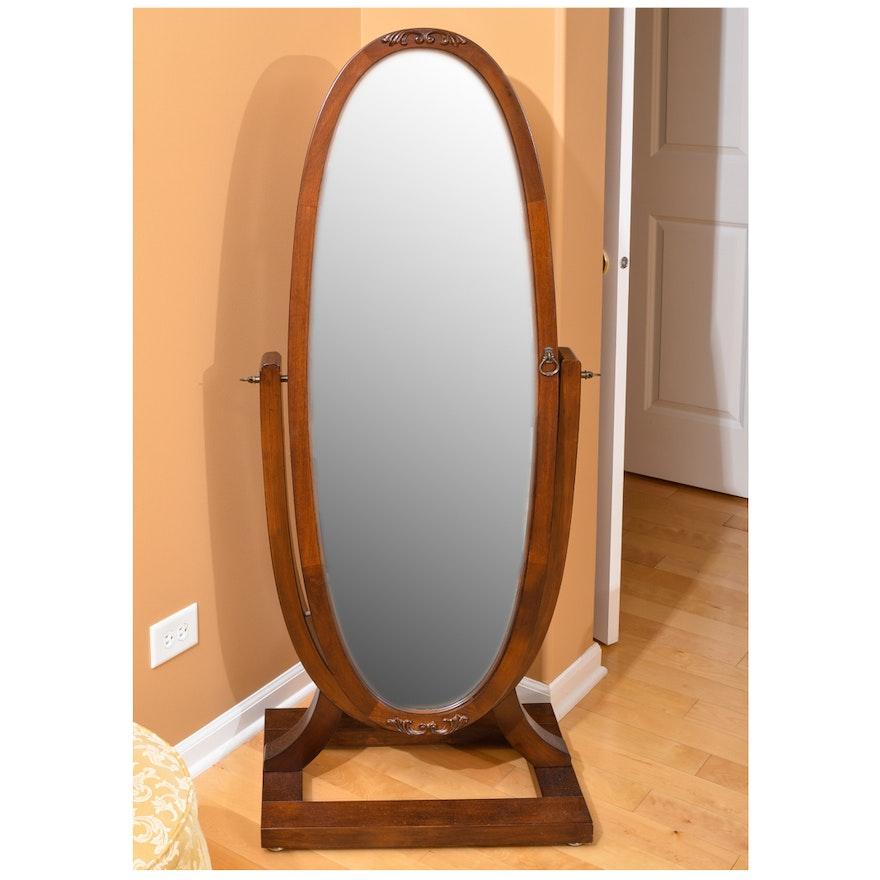 Oval Floor Mirror with Jewelry Storage : EBTH