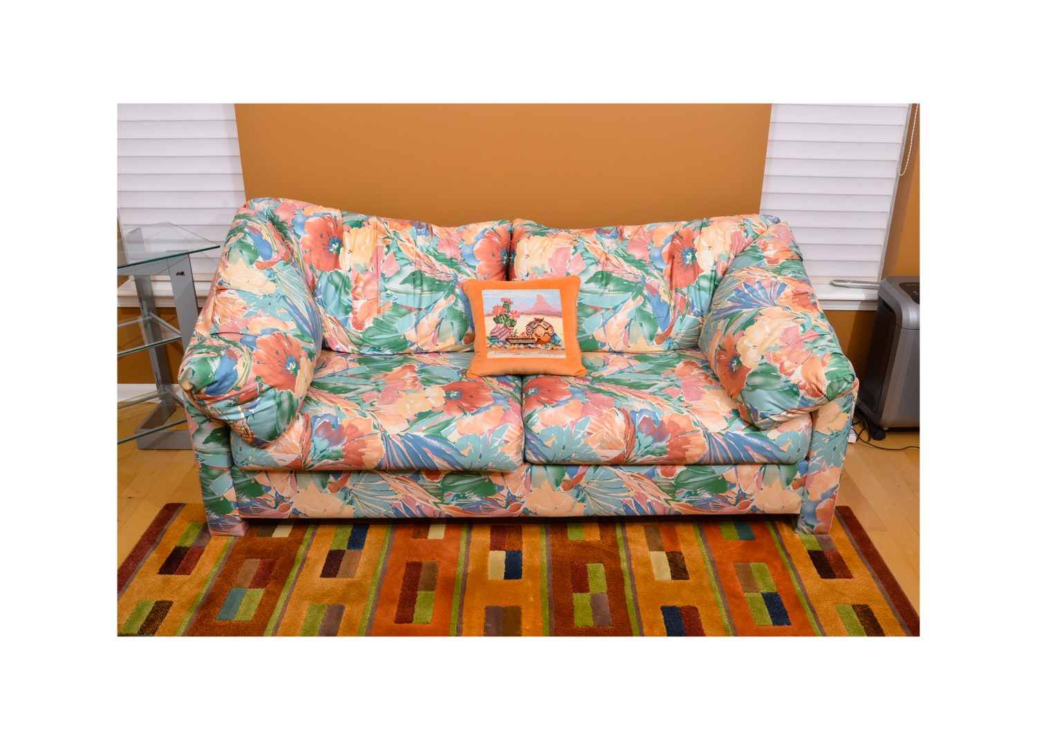 Vibrant Floral Upholstered Sleeper Sofa by H. Brian Convertible Sofas