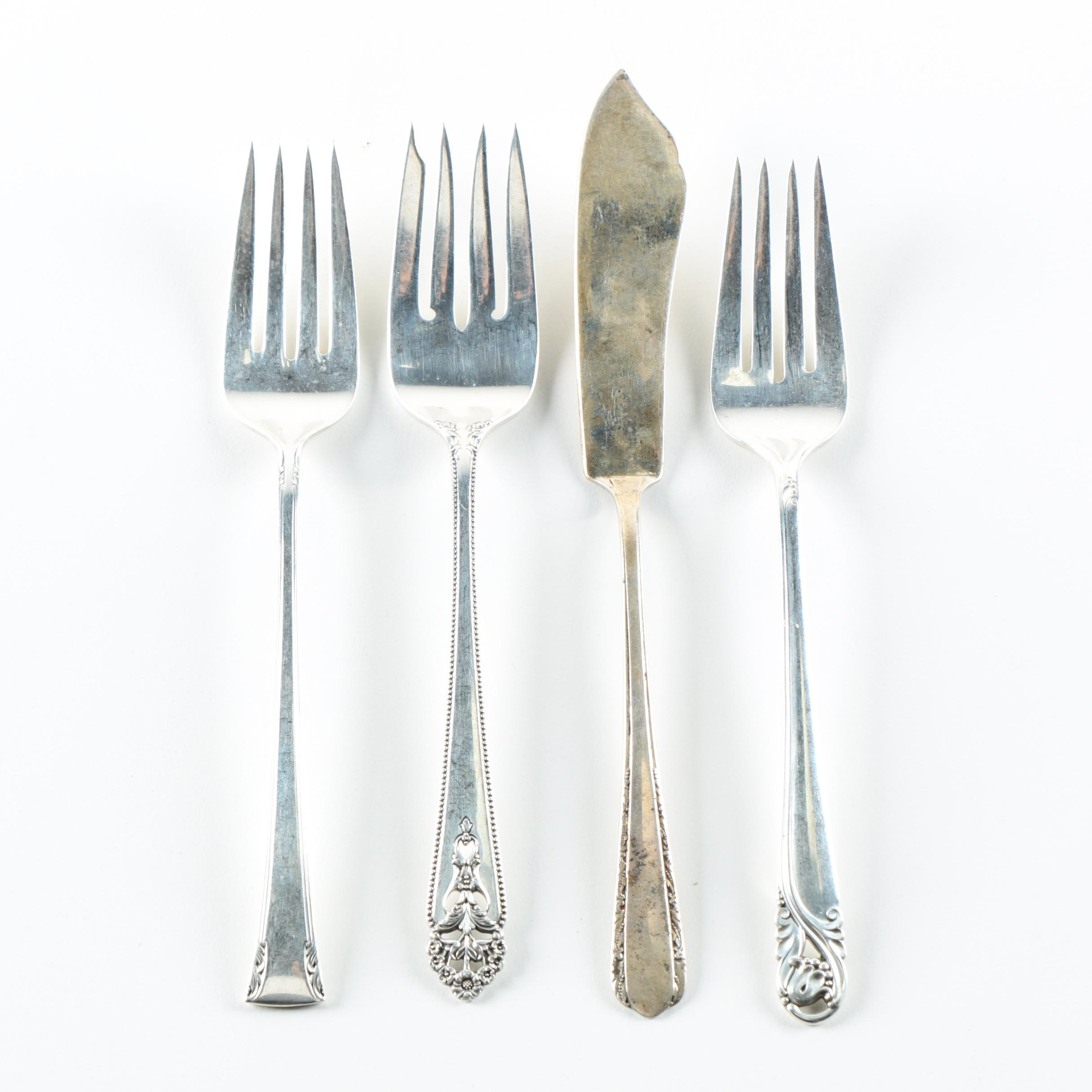 Assorted Sterling Silver Flatware Featuring International Silver Co.