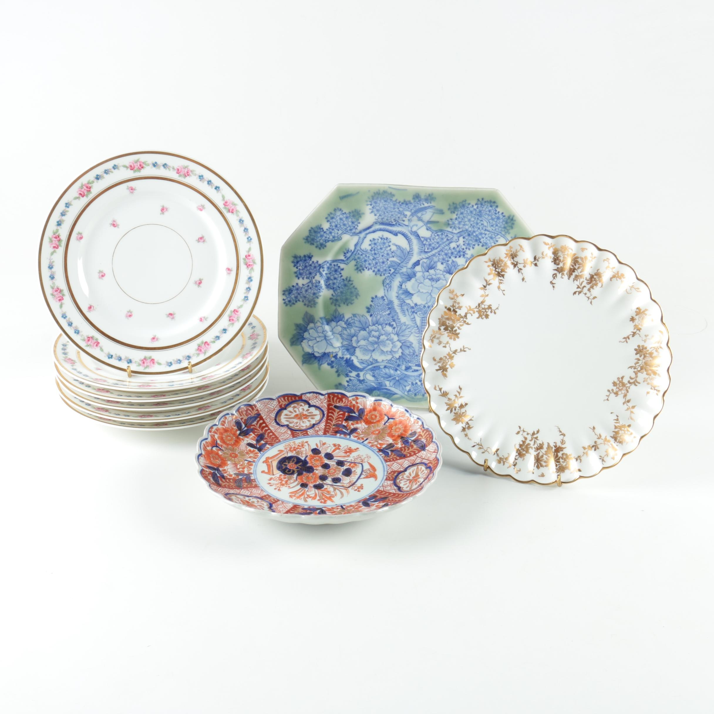 Porcelain Plates Featuring Staffordshire