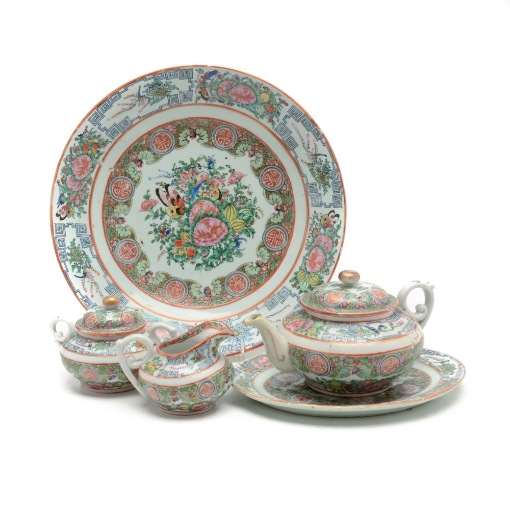 Chinese Export Rose Canton Porcelain
