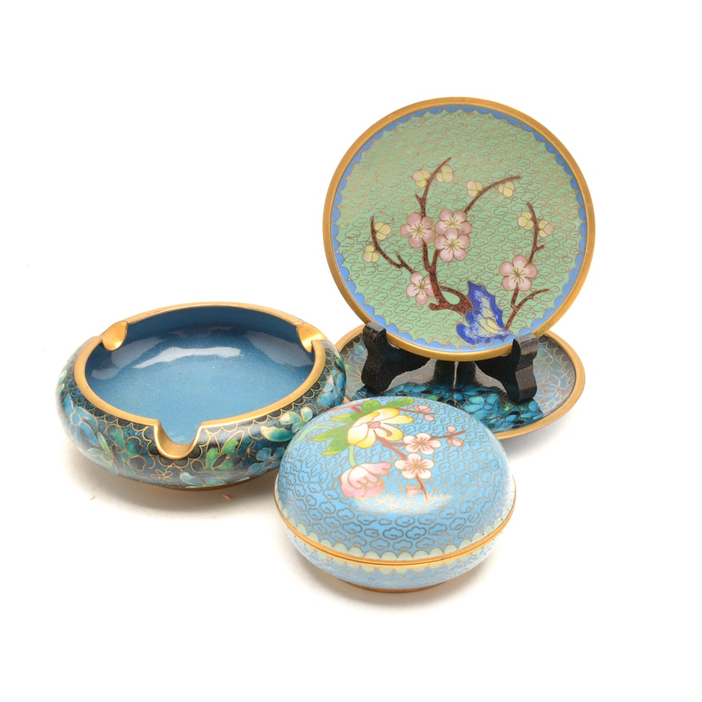 Assortment of Chinese Cloisonné Decor