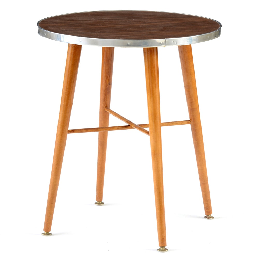 Mid-Century Round Accent Table