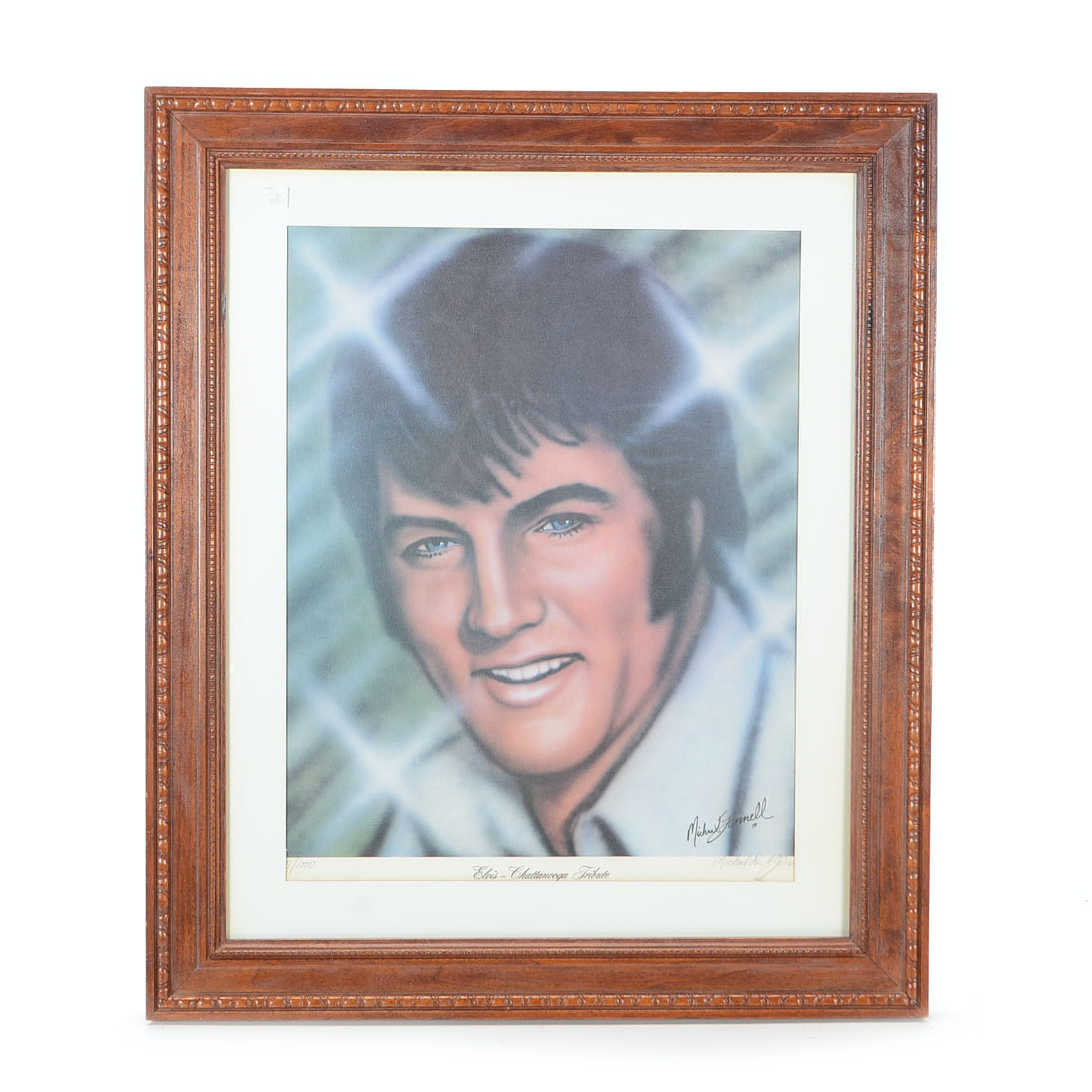 """Michael Jinnell Signed Limited Edition Offset Lithograph """"Elvis"""""""