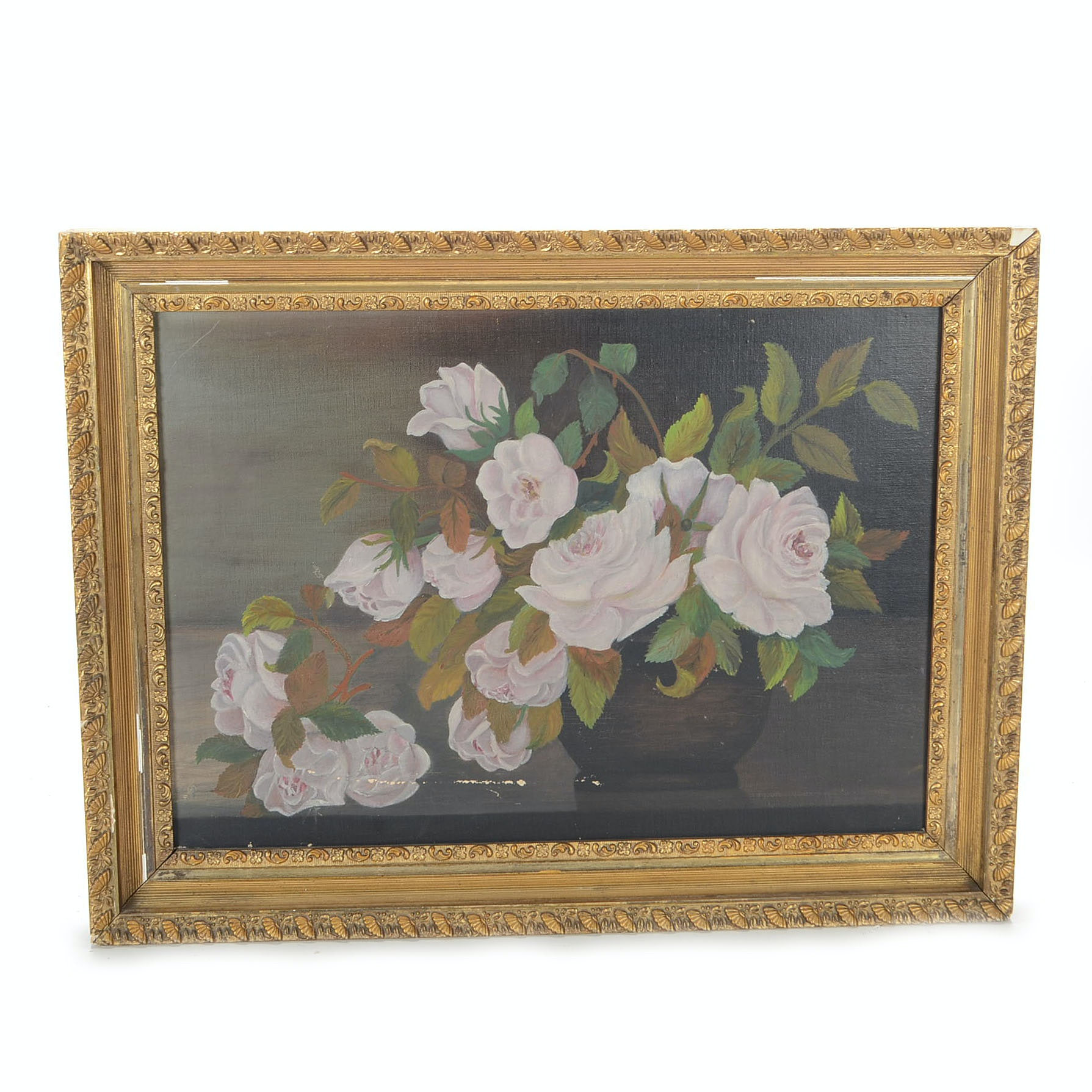 Oil Painting on Canvas of Roses