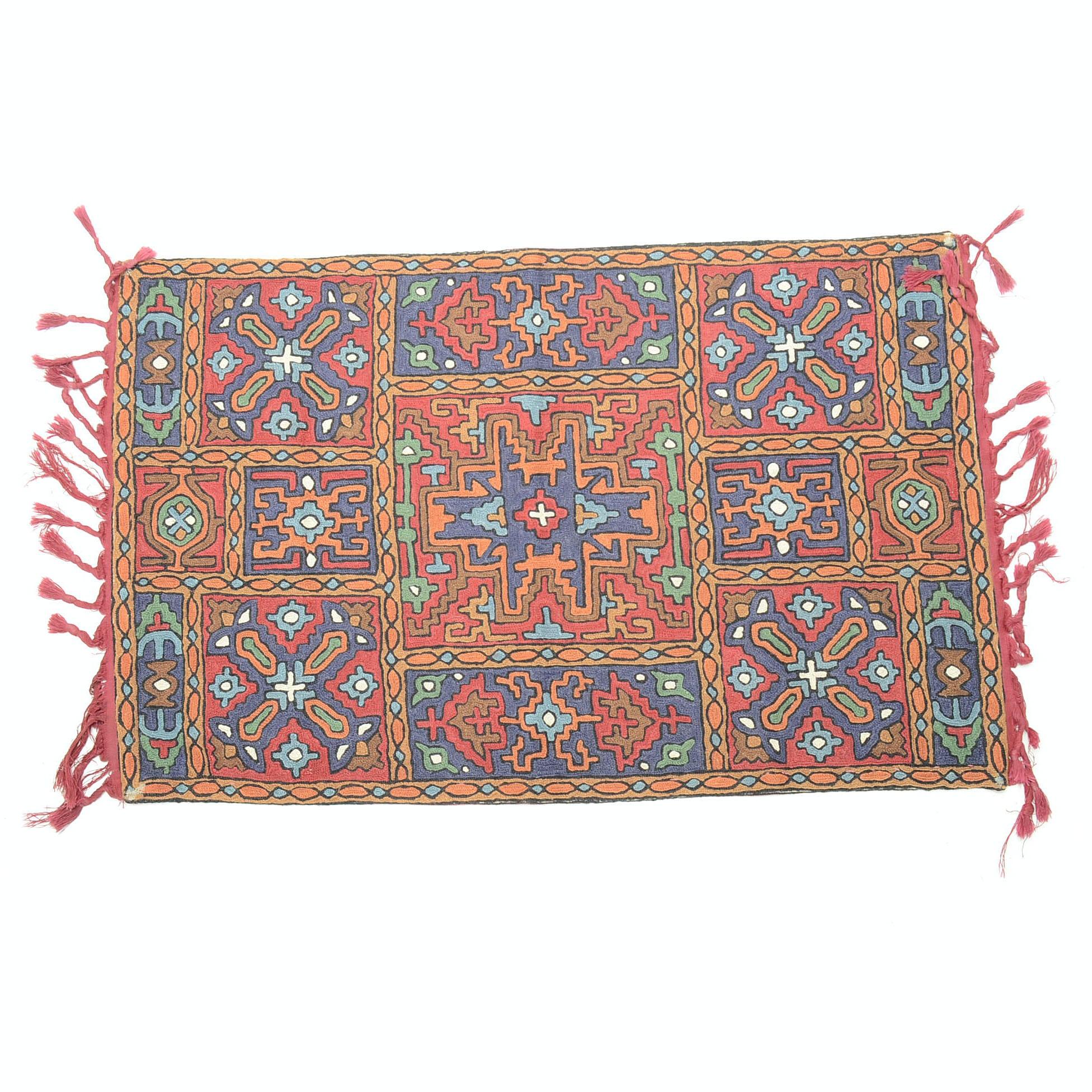 Handwoven Caucasian Lesghi Soumack Mat