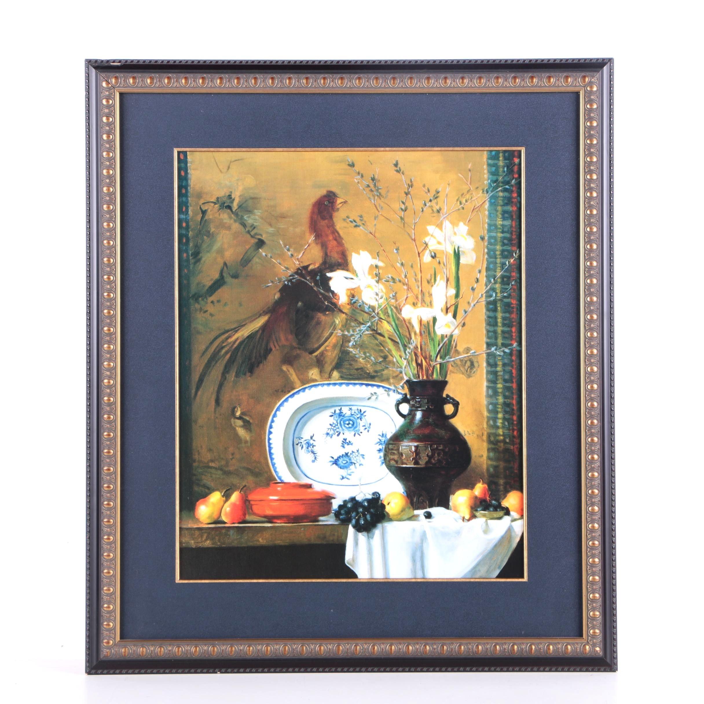 "Offset Lithograph After Joan Potter ""Japanese Iris"""