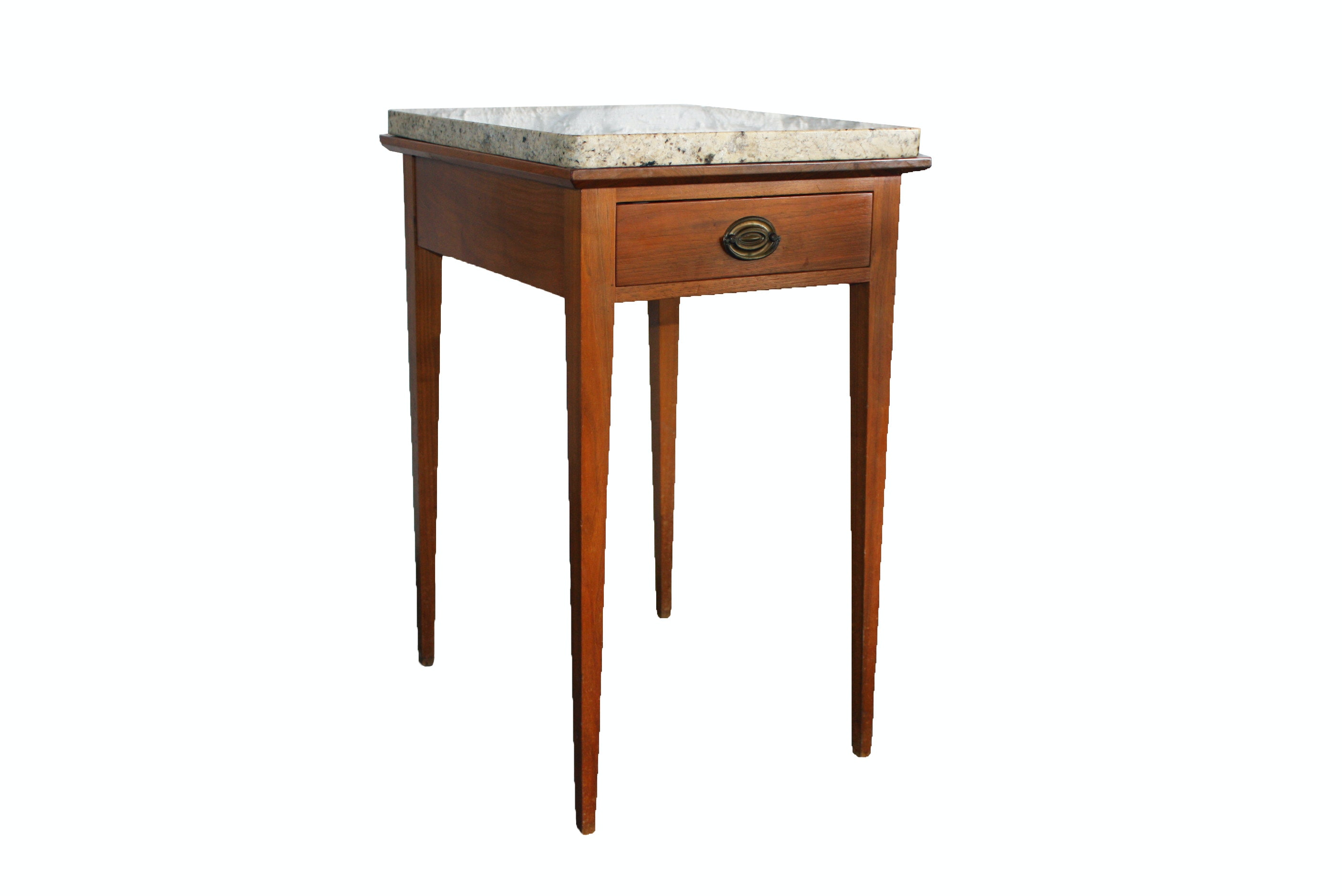 Federal Style Stone Top Accent Table