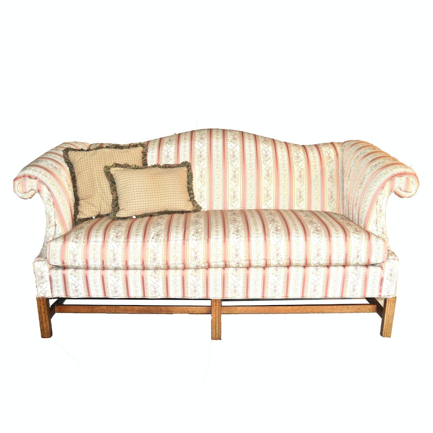 Chippendale Style Camelback Sofa By Hickory Fry Furniture