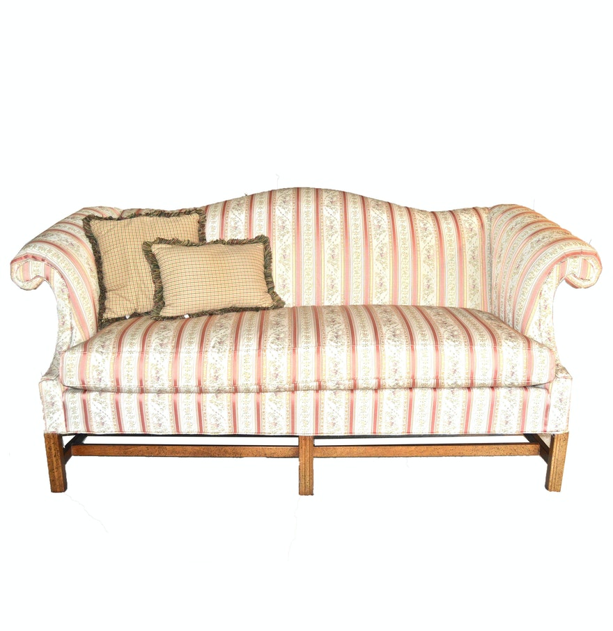 Chippendale Style Camelback Sofa By Hickory Fry Furniture Co Inc