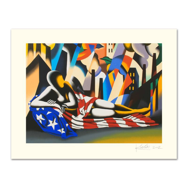 """America"" Limited Edition Serigraph by Mark Kostabi"