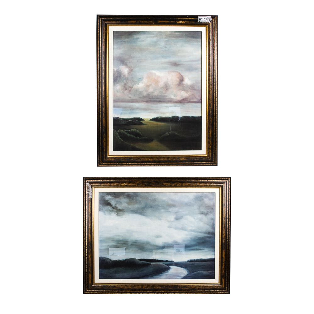 Framed Landscape Offset Lithographs