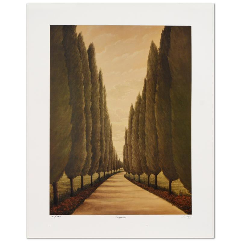 """Tuscany Lane"" Limited Edition Lithograph by Steven Lavaggi"