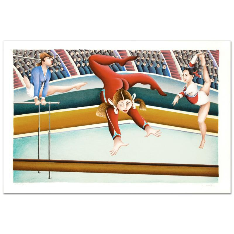 """Gymnast"" Limited Edition Lithograph By Yuval Mahler"