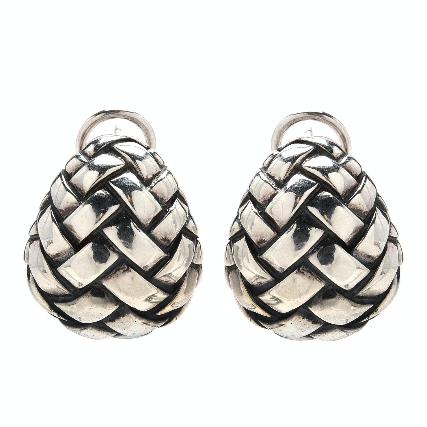 Sterling Silver Scott Kay Dome Earrings