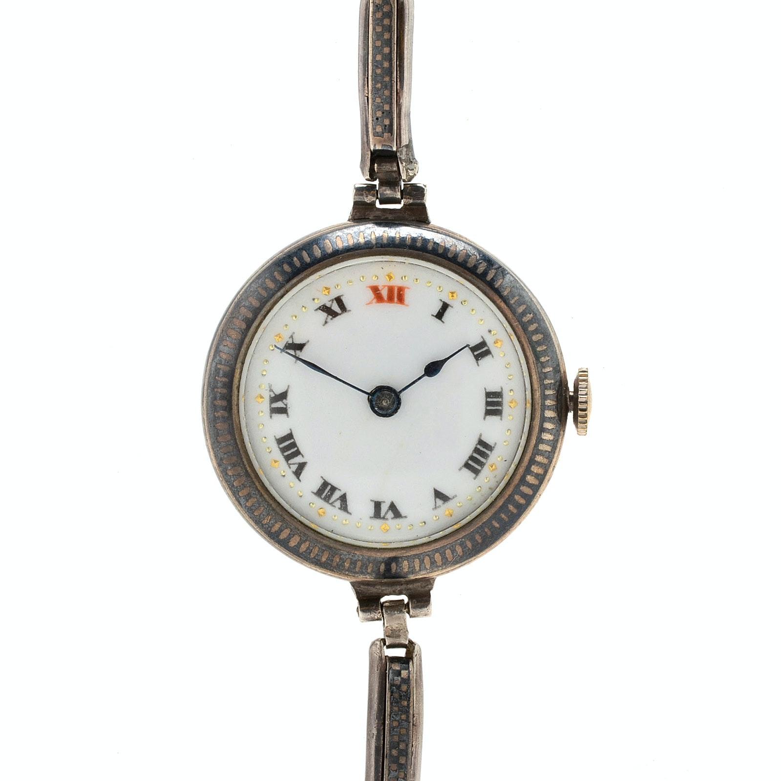 800 Silver Swiss Wristwatch