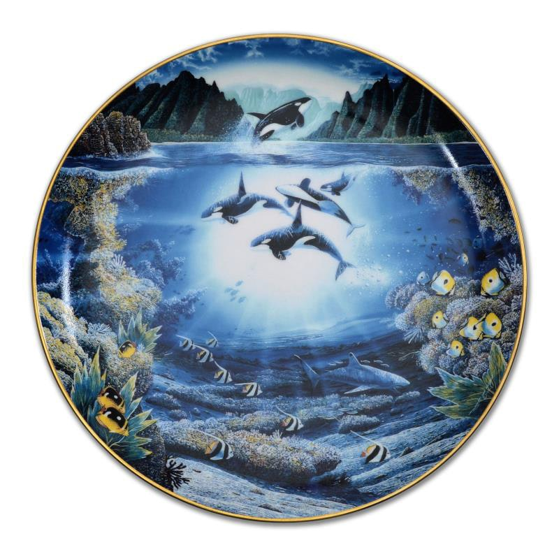 """Sunlit Glow"" Limited Edition Porcelain Collectors Plate"