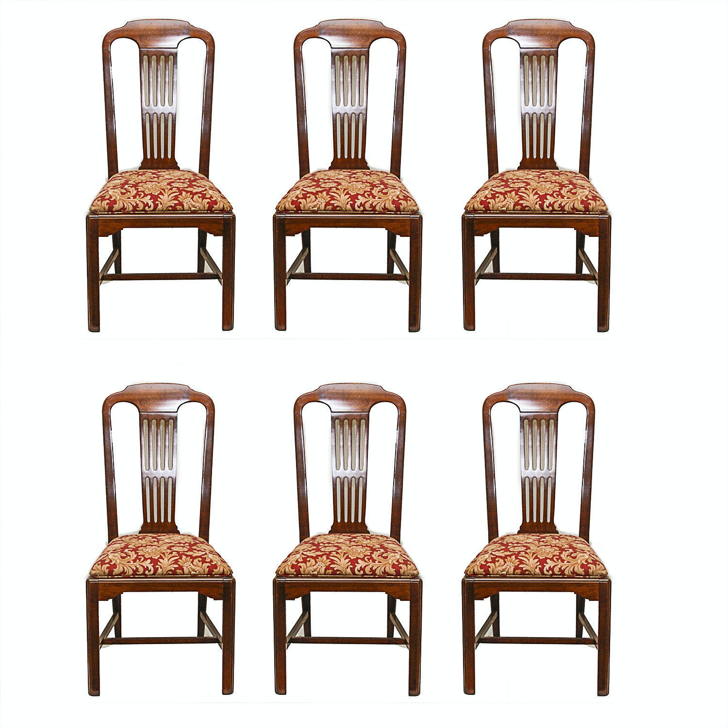 Six Wooden Dining Chairs