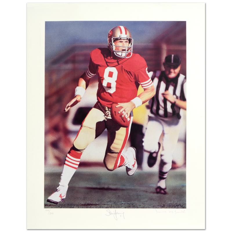 """Run & Shoot (Steve Young)"" Limited Edition Lithograph"