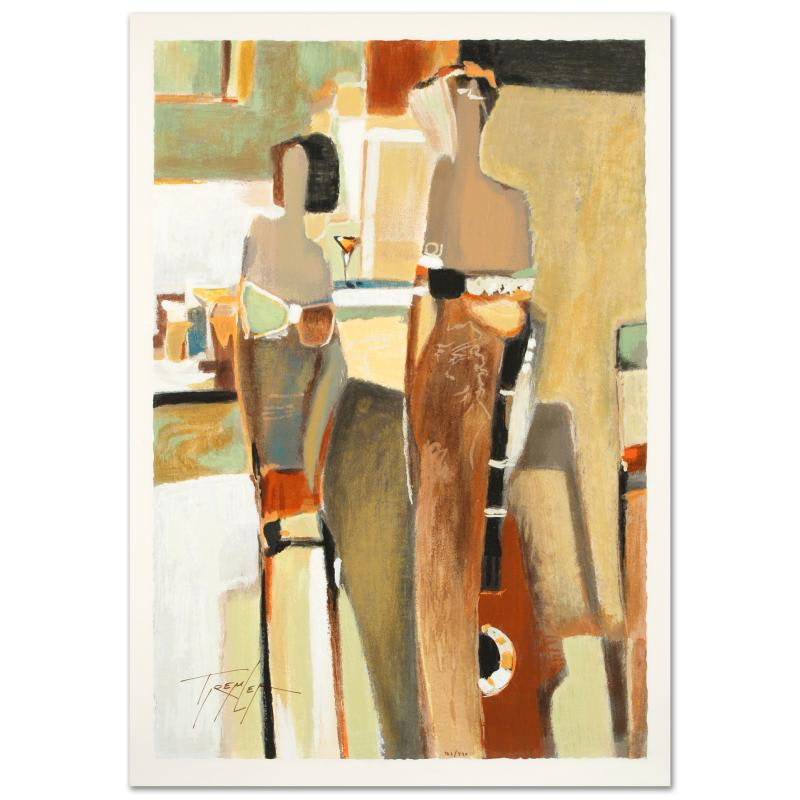 """Bar Scene II"" Limited Edition Serigraph"