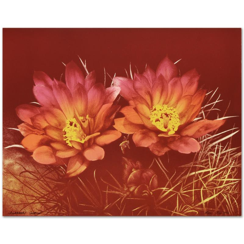 """""""Fishhook Cactus"""" Limited Edition Lithograph"""