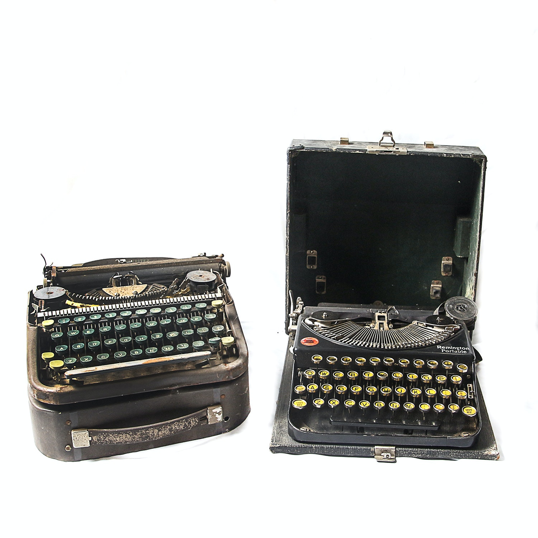 Pair of Vintage Portable Typewriters