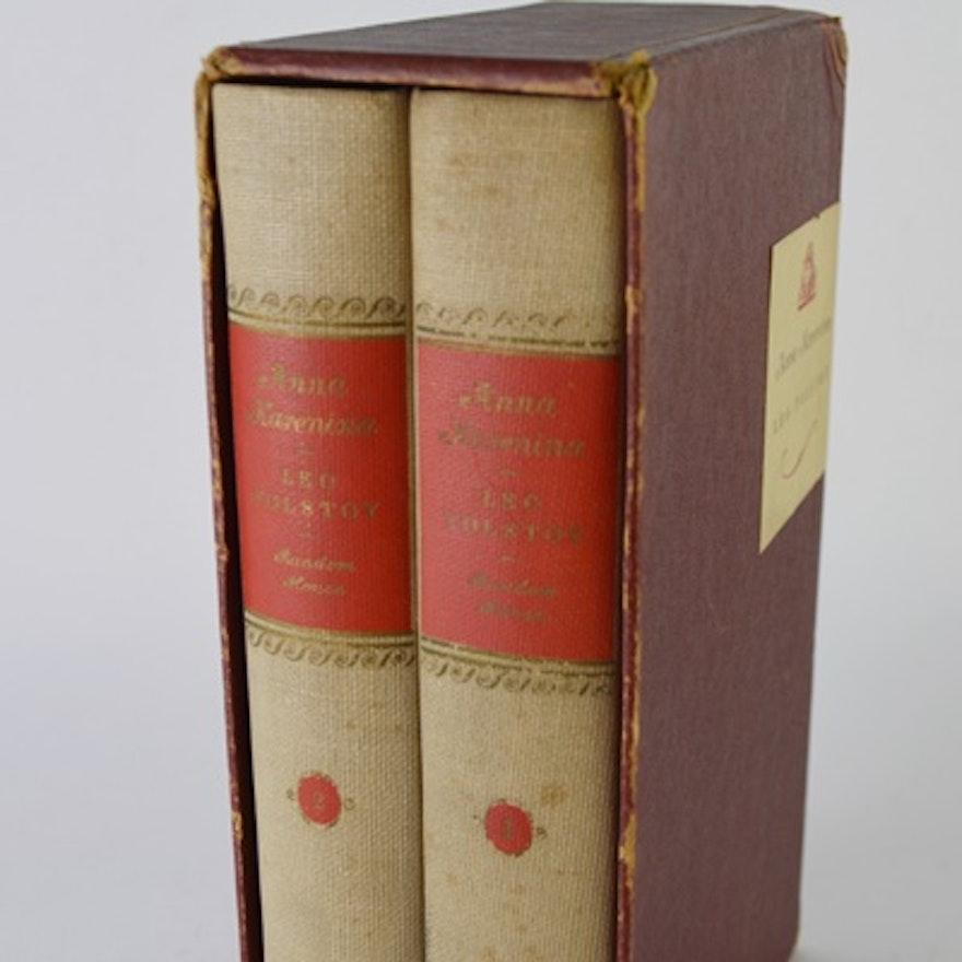 Two Volume Anna Karenina By Leo Tolstoy With Slipcase Ebth