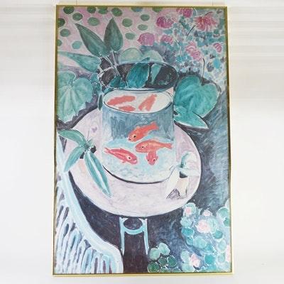 "Offset Lithograph After Henri Matisse ""Les Poissons Rouges"""