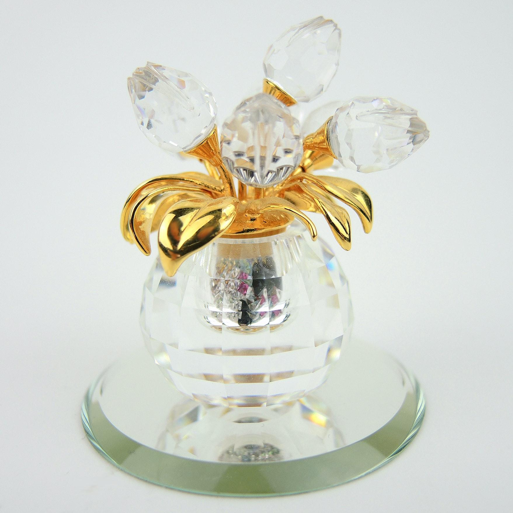 """Swarovski Crystal """"Secrets"""" Vial Tulip Vase"""