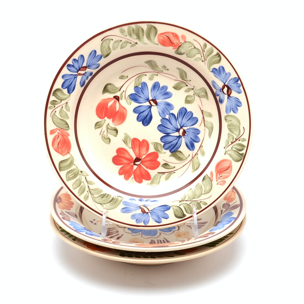 Eastern European Floral Wall Decor Plates