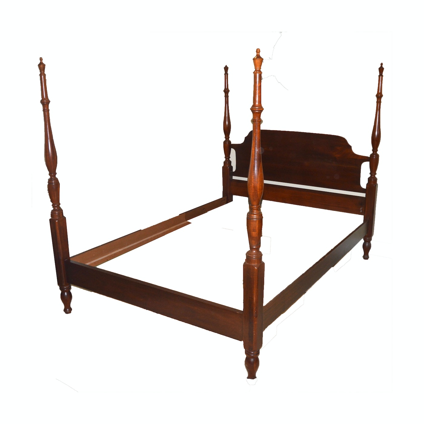 Four post full size bed frame by cresent furniture ebth for Full size bed frame and dresser