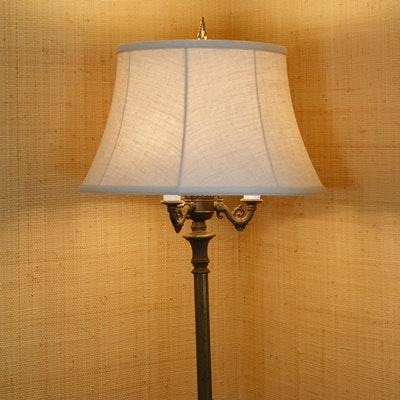 Bronze Tone and Marble Floor Lamp