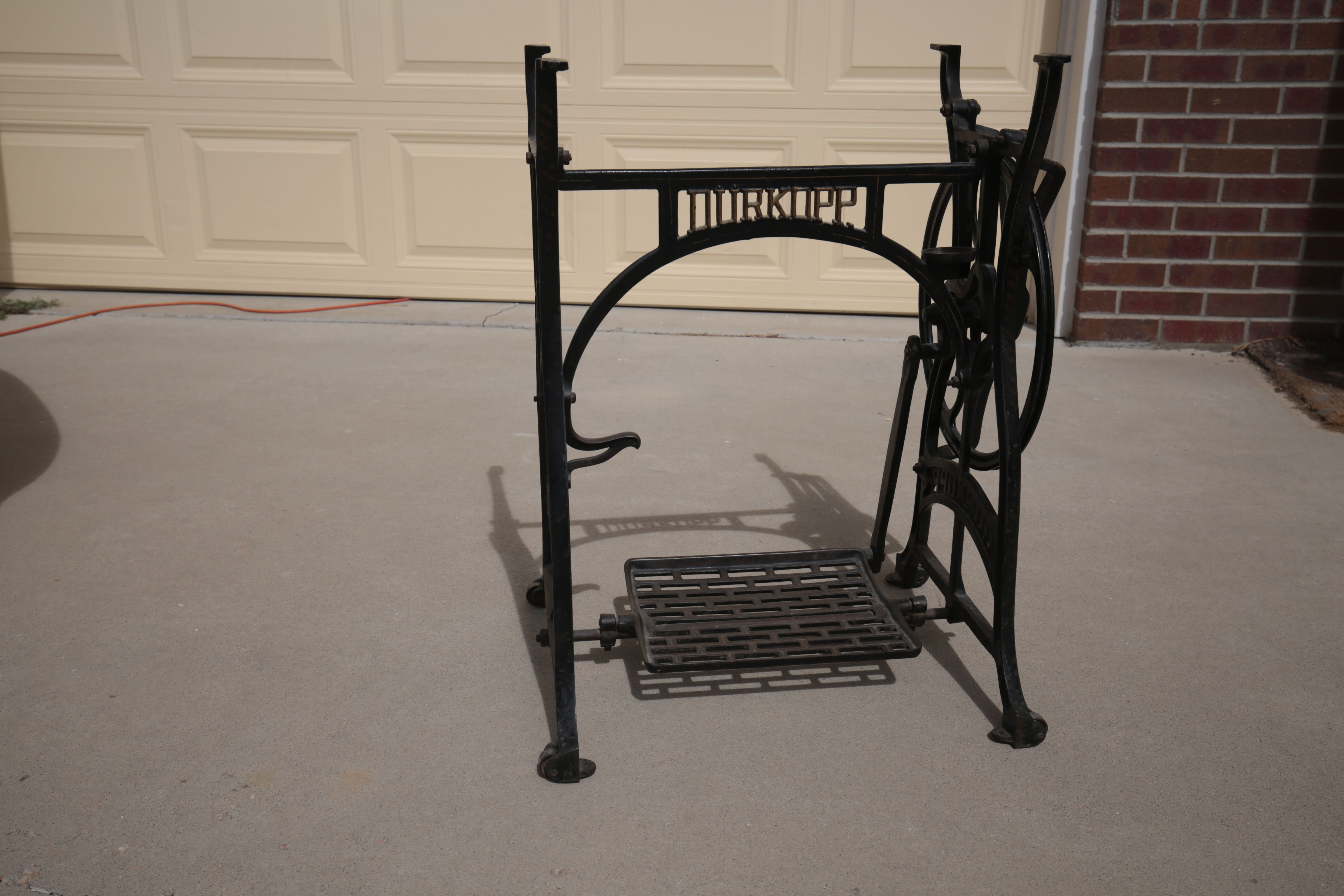 Vintage Cast Iron Durkopp Sewing Machine Table Base