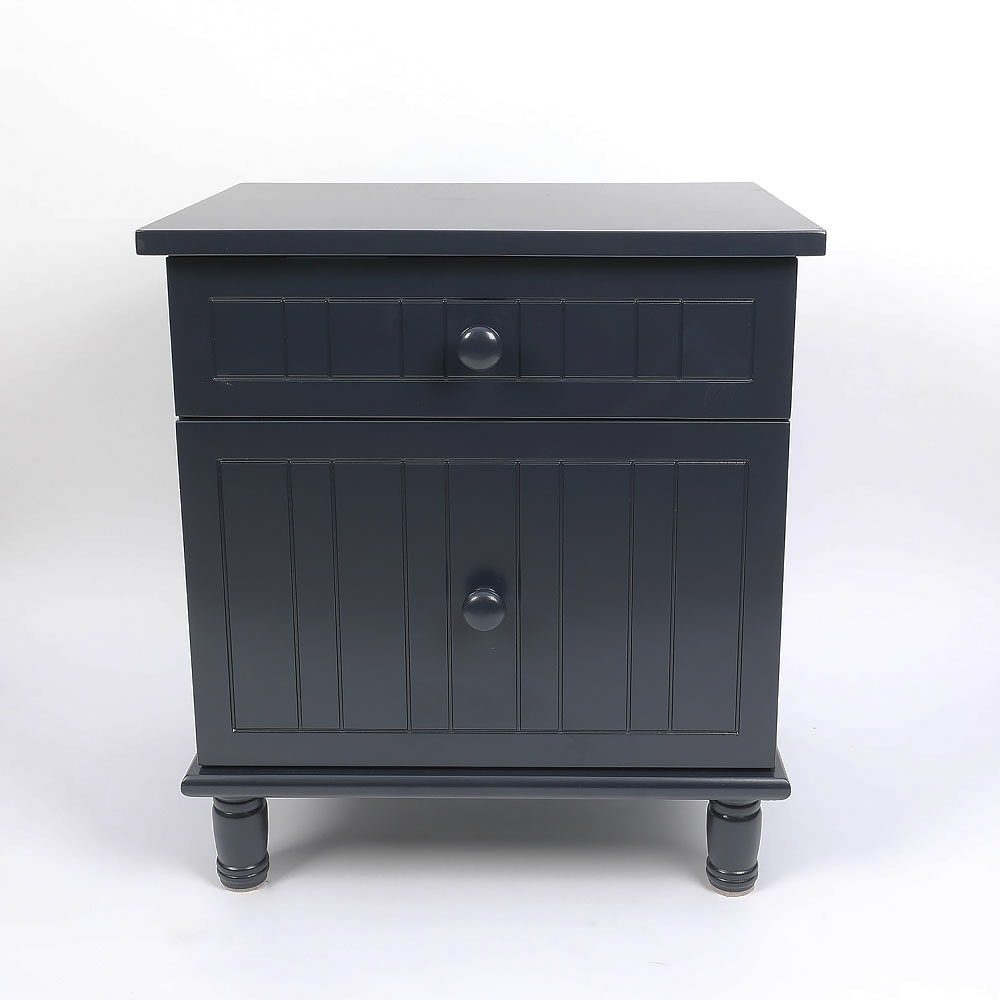 Cottage Style Navy Blue Nightstand