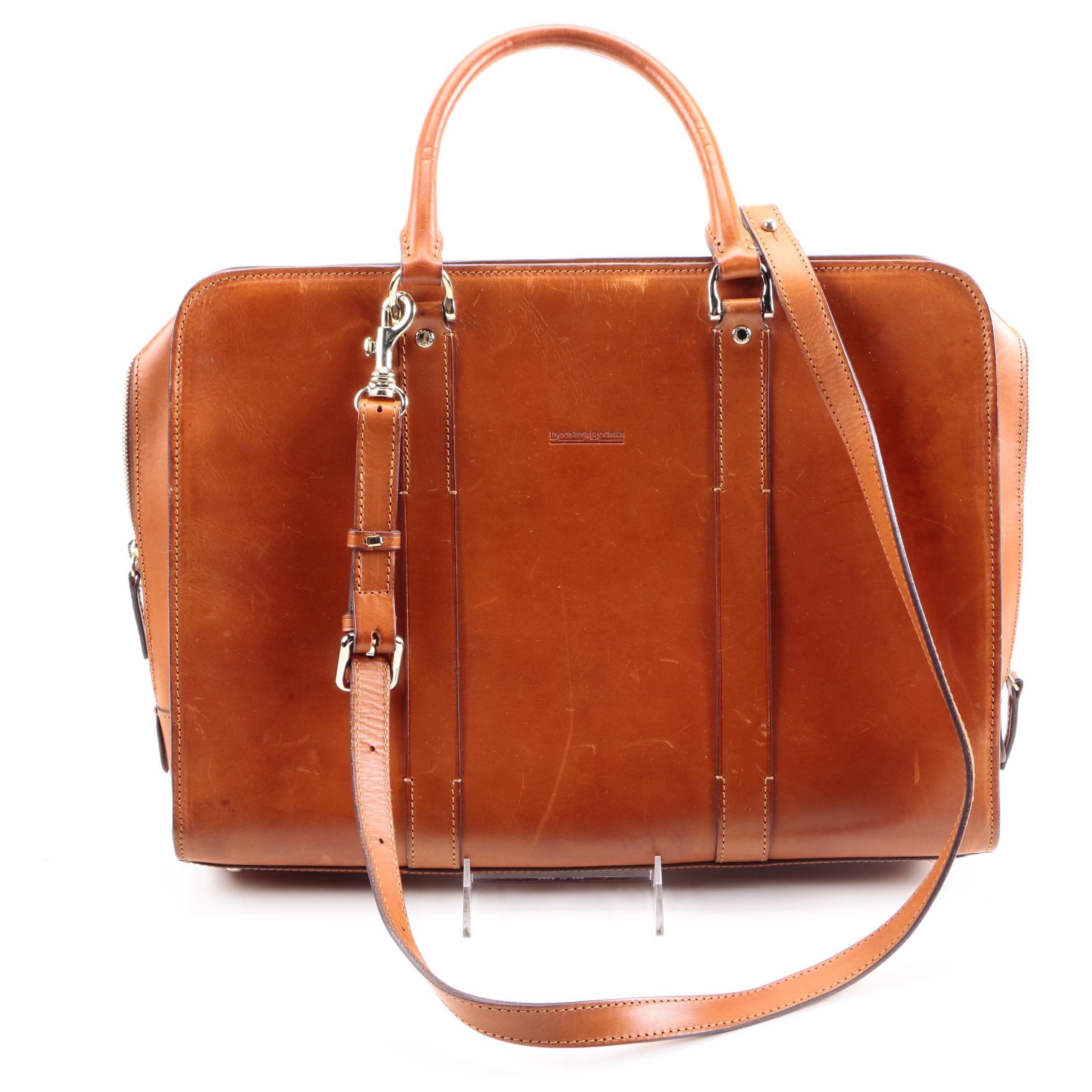Dooney & Bourke Brown Leather Briefcase