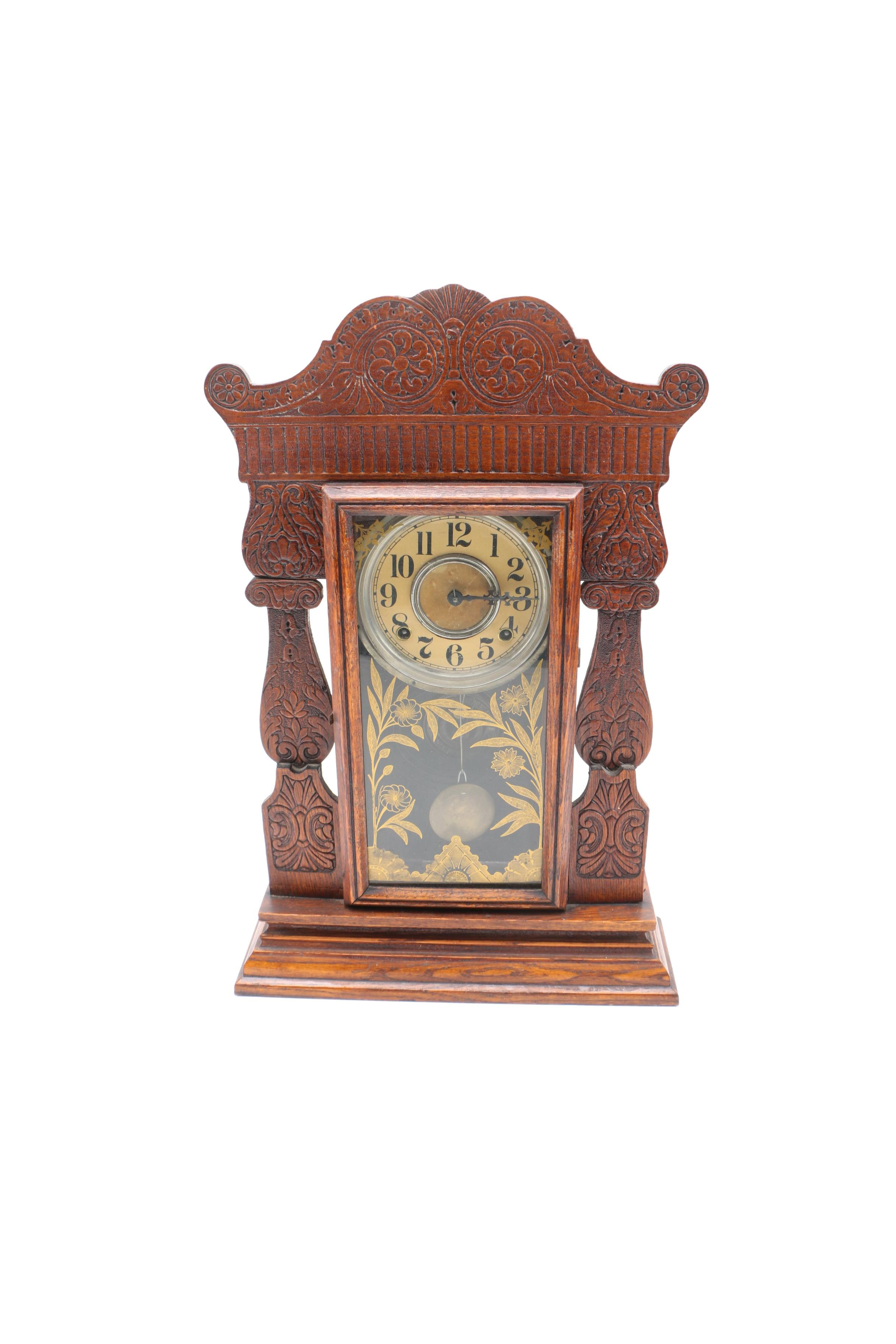 "Antique William L. Gilbert ""Jewel"" Mantel Clock"
