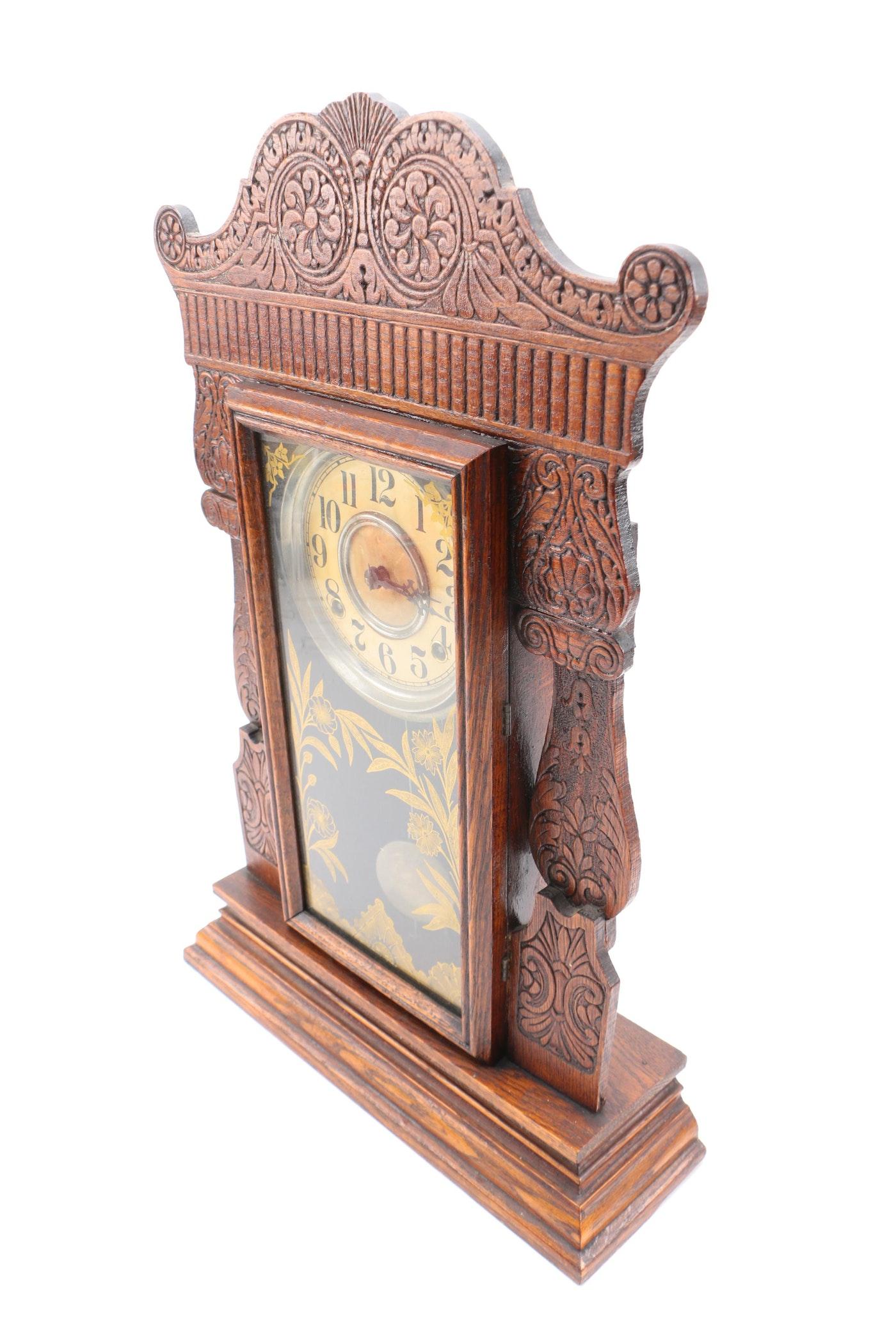 Antique William L Gilbert Quot Jewel Quot Mantel Clock Ebth
